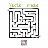 Black vector maze, labyrinth illustration