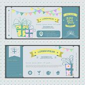 Vintage Ticket For Birthday Party Or Other Any Kind Of Fun Celebration Party Style