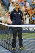Chair umpire Marija Cicak at US Open 2014