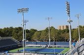 Completely renovated court number 4 at the Billie Jean King National Tennis Center ready for US Open