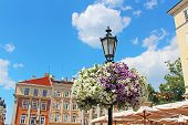Street Lantern In Historical Center Of Lviv, Ukraine