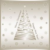 Gold-christmas Tree-snowflakes-merry Christmas