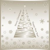 Merry Christmas-gold-christmas Tree-snowflakes