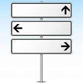 Three Directions Roadsign