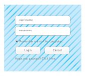 Illustration Of A Clean Member Login Design