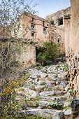 stock photo of jabal  - Image of stairs Wadi Bani Habib in Oman - JPG