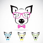 Vector image of a pig glasses