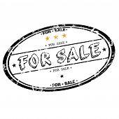For sale grunge rubber stamp