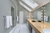 Master Bath With Skylights