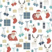 Seamless Pattern With Christmas Accessories..eps
