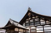 Japanese style roof of Kinkakuji, Kyoto , Japan, Asia.