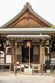 Traditional Japanese style temple in daytime with nobody.