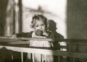Vintage photo of little girl (fifties)