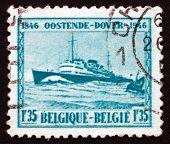 Postage Stamp Belgium 1946 M. S. Prince Baudouin, Passenger Ship