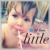 Baby drinking from straw - With Instagram effect