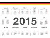 Vector German Circle Calendar 2015