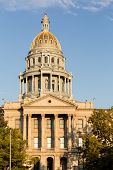 Gold Covered Dome Of State Capitol Denver