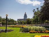 Gardens In Front Of State Capitol Denver