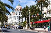 The Hotel Negresco And Promenade Des Anglais, Nice