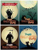 Halloween Posters set
