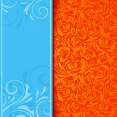 Invitation card with floral pattern. Vector eps-10.