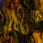 art abstract colorful chaotic waves pattern; background in gold and brown colors
