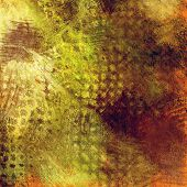 art abstract colorful acrylic and pencil background in green, grey, olive, orange and brown colors