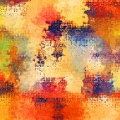 art abstract pixel geometric pattern background in red, orange, blue and yellow colors