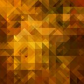 art abstract colorful geometric pattern; background in gold, red, brown and black colors