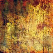 art abstract colorful acrylic and pencil background in  grey, orange and brown colors