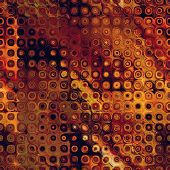 art abstract pixel geometric seamless pattern; background in brown, gold, orange and red colors