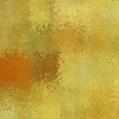 art abstract pixel geometric pattern background in gold, green and orange colors