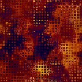 art abstract pixel geometric pattern background in brown. orange and gold colors