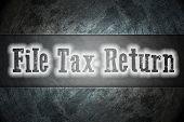 File Tax Return Concept