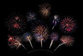10 Firework Blasts On Curve