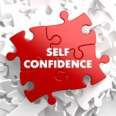 Self Confidence on Red Puzzle.