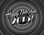Movie still screen - Happy New Year 2015 - Editable Vector EPS10