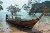 Long Tail Boat In Andaman Sea