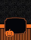 Elegant Striped Halloween Notecard with copy space