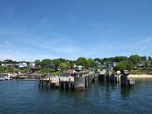 Peaks Island Pier And Surrounding Town