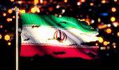 Iran National Flag Torn Burned War Freedom Night 3D