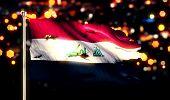 Iraq National Flag Torn Burned War Freedom Night 3D