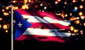 Puerto Rico National Flag Torn Burned War Freedom Night 3D