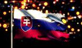 Slovakia National Flag Torn Burned War Freedom Night 3D