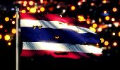 Thailand National Flag Torn Burned War Freedom Night 3D
