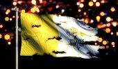 Vatican City National Flag Torn Burned War Freedom Night 3D