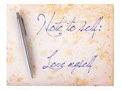 Old Paper Grunge Background - Love Myself