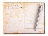 Old Paper Postcard - Hello Dad