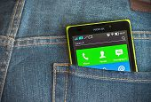 Nokia Xl Smartphone In The Pocket Of Jeans