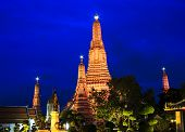 Wat Arun In Bangkok At Twilight Time